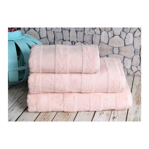 Lososový uterák Irya Home Nova, 50x90 cm