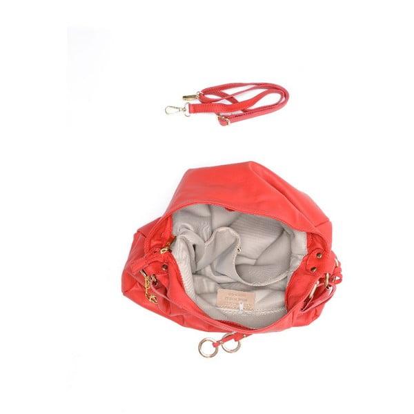 Kožená kabelka Carla Ferreri 2087 Rosso