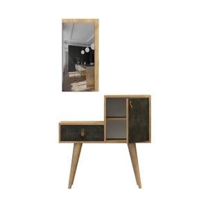 Sada konzolového stolíka a zrkadla Janna