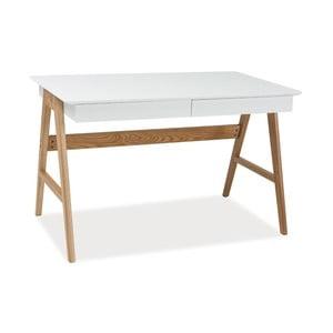 Pracovný stôl s konštrukciou z dubového dreva Signal Scandic, dĺžka 120cm