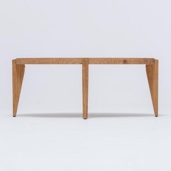 Dubový kávový stolík Bontri, 90x50 cm