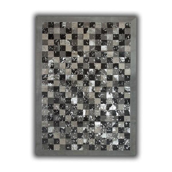 Koberec z pravej kože Acid Grey, 140x200 cm