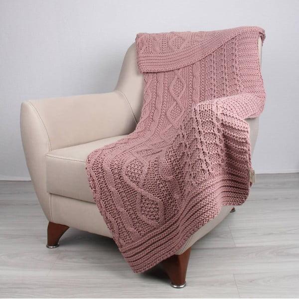 Ružová deka Teto, 170 x 130 cm