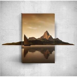 Nástenný 3D obraz Mosticx Hills With Boat, 40×60 cm
