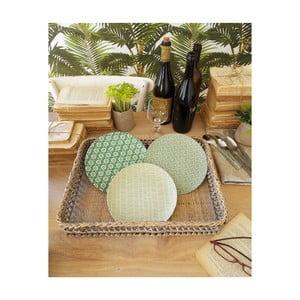 Sada 12 dezertných tanierikov z bambusového vlákna Orchidea Milano Zig