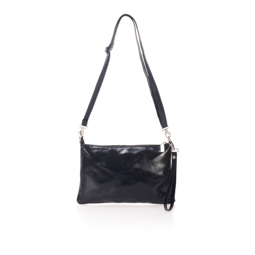 baa51d7c0b Čierne kožená listová kabelka Lisa Minardi Halda