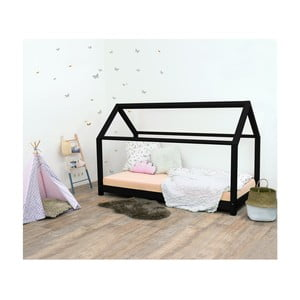 Čierna detská posteľ bez bočníc zo smrekového dreva Benlemi Tery, 120×200 cm