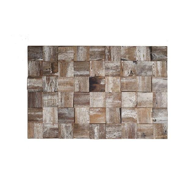 Nástenná dekorácia Wooden White, 60x90 cm