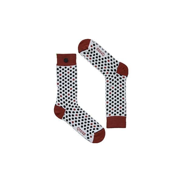 Ponožky Qnoop On the Dot Marsala, veľ. 35-38