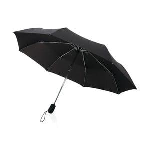 Čierny skladací dáždnik odolný proti vetru Swiss Peak