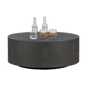Tmavohnedý konferenčný stolík z vláknitého ílu WOOOD Dean, Ø 80cm