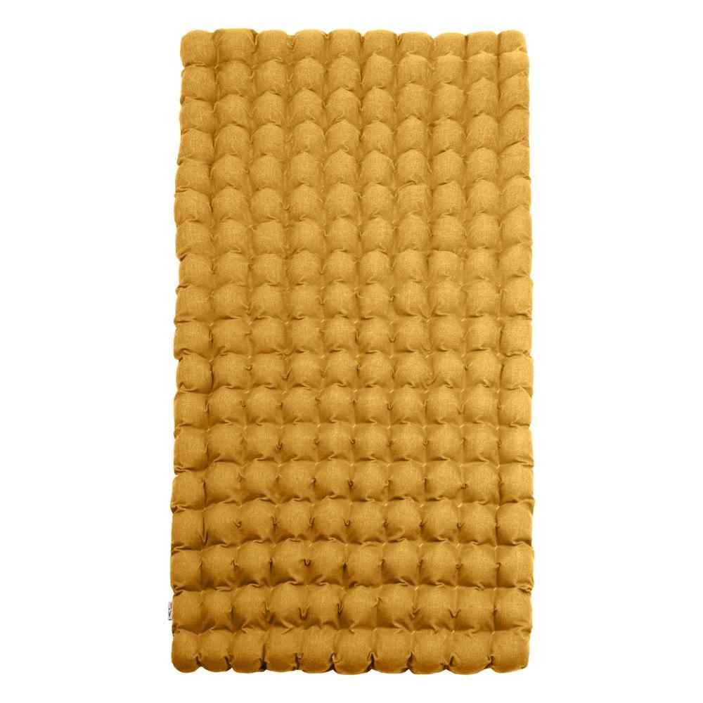 Tmavožltý relaxačný masážny matrac Linda Vrňáková Bubbles, 110 × 200 cm