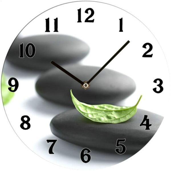 Sklenené hodiny Zen, 34 cm