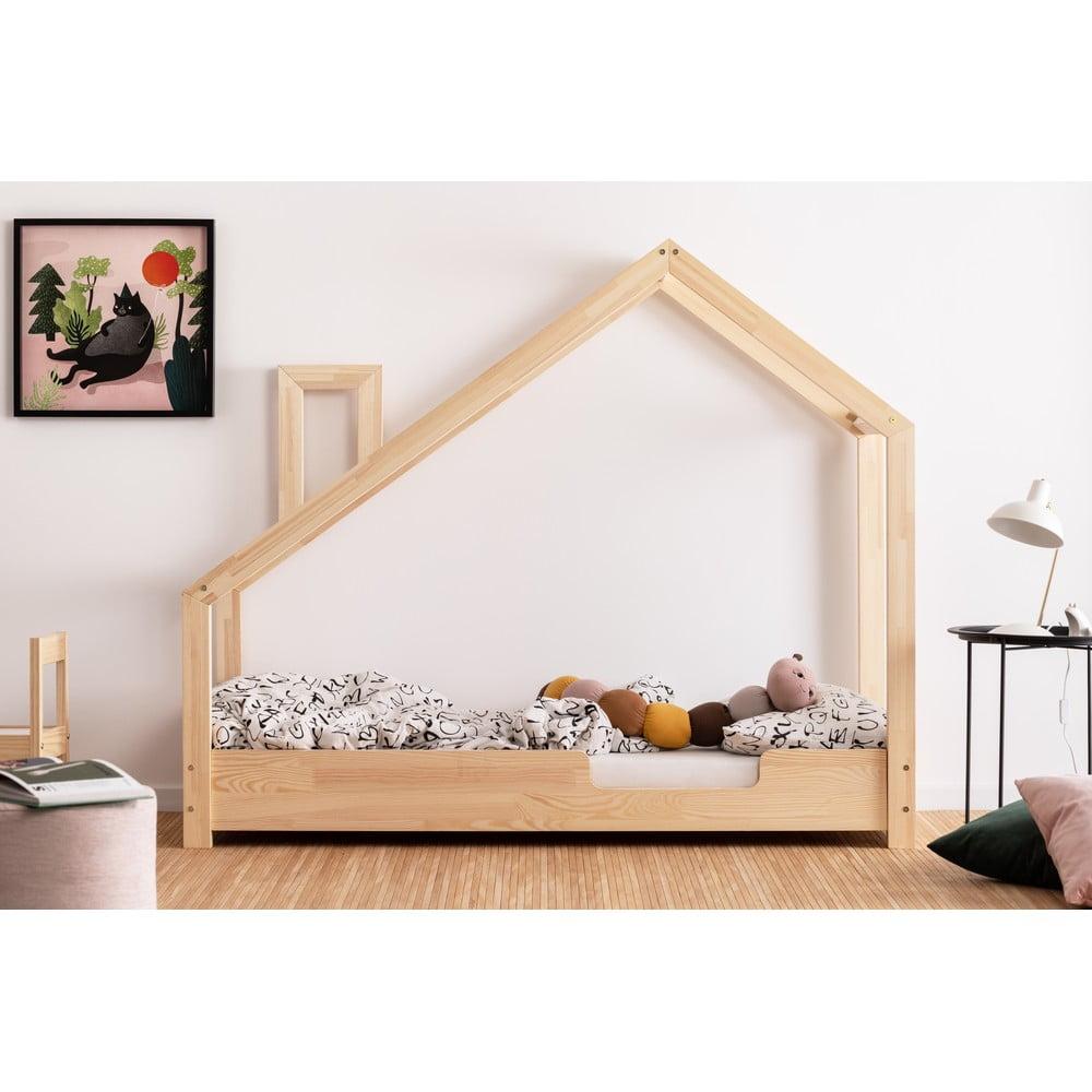 Domčeková posteľ z borovicového dreva Adeko Luna Carl, 70 x 180 cm