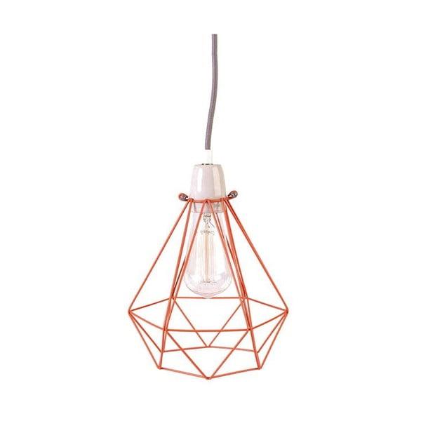 Svetlo s oranžovým tienidlom a sivým káblom Filament Style Diamond #1