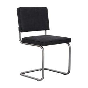 Sada 2 čiernych stoličiek Zuiver Ridge Brushed Vintage