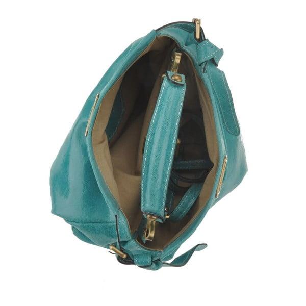 Tyrkysová kožená kabelka Florence Electra