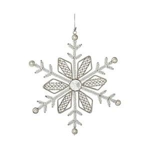 Strieborná vianočná ozdoba Parlane Frost Flake, 23 cm