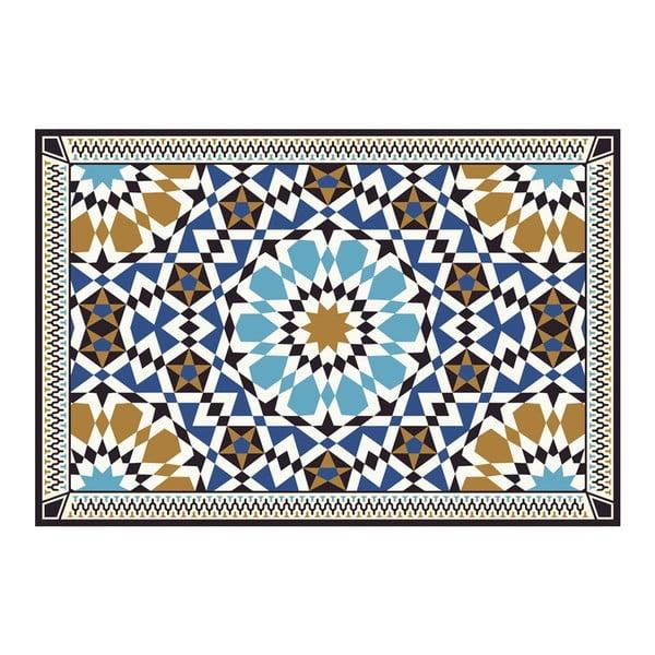 Vinylový koberec Devra Blue, 52x240 cm