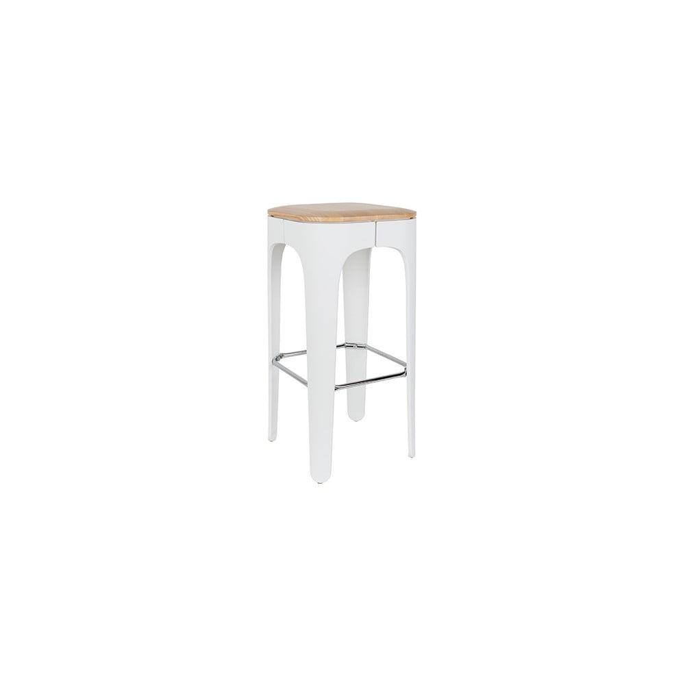 Biela barová stolička White Label Up-High