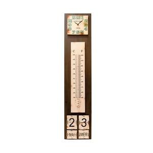 Hodiny s teplomerom a kalendárom Antic Line