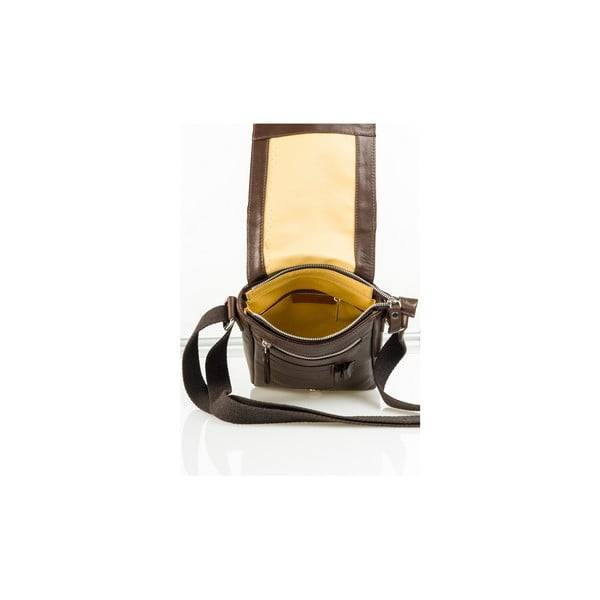 Kožená taška Florian, hnedá