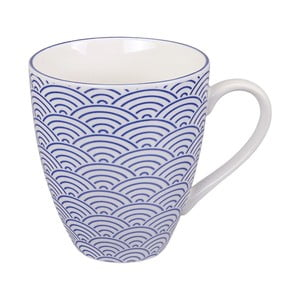 Modrý porcelánový hrnček Tokyo Design Studio Wave