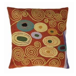 Obliečka na vankúš Klimt Brown/Green, 45x45 cm