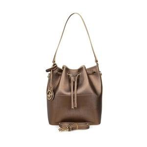 Hnedá kabelka z eko kože s medenými odleskami Beverly Hills Polo Club Sophia