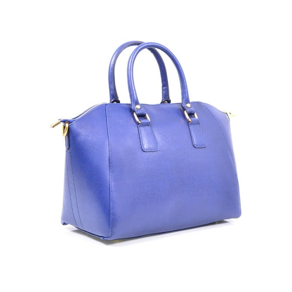 Kožená kabelka Clementine, modrá