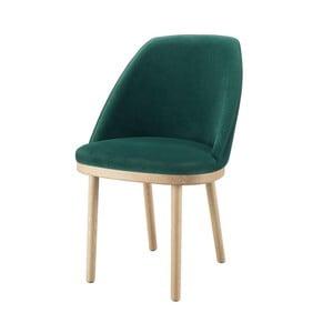 Tmavozelená stolička s nohami z dubového dreva Wewood - Portugues Joinery Sartor