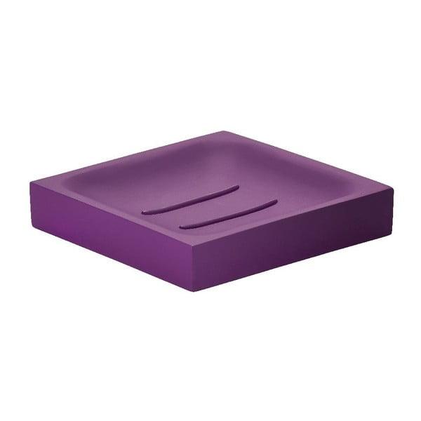 Podložka na mydlo Cube, fialová