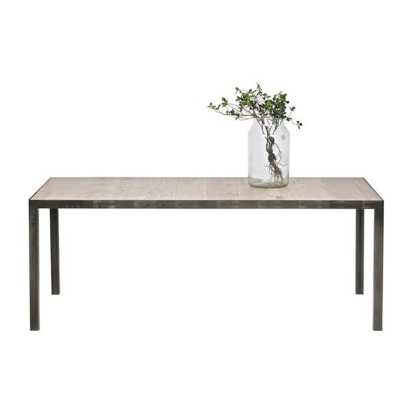 Jedálenský stôl z dubového dreva De Eekhoorn Station, 90×198cm