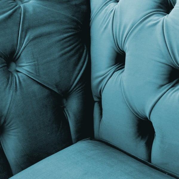 Modrá pohovka pre dvoch Vivonita Chesterfield
