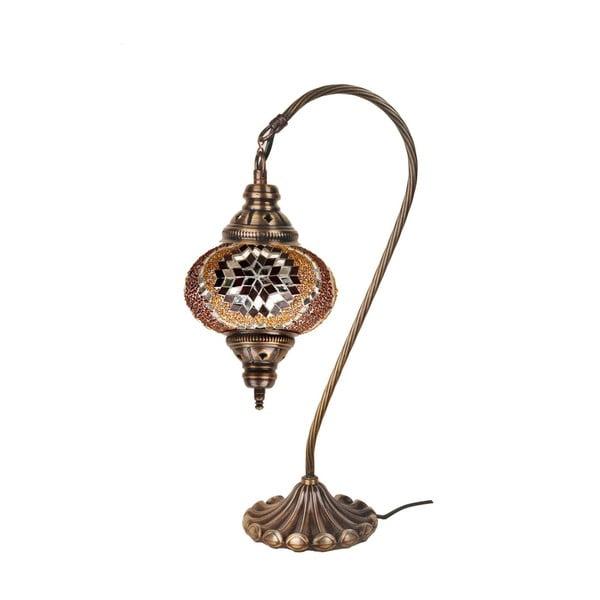 Sklenená ručne vyrobená lampa Fishing Cris, ⌀ 17 cm