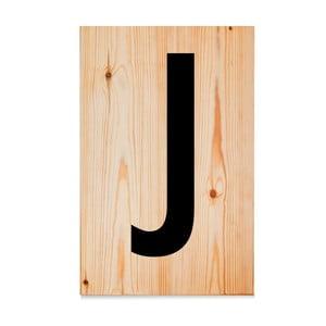 Drevená ceduľa Letters J