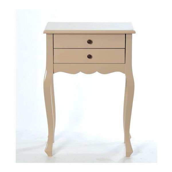 Odkladací stolík Vintage Cappuccino, 52x35x72 cm