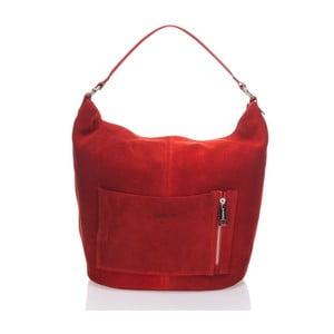 Kožená kabelka Krole Kim, červená