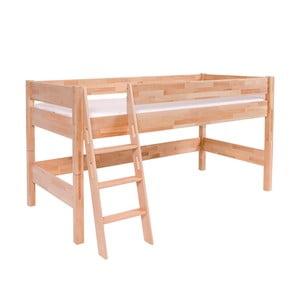 Detská poschodová posteľ z masívneho bukového dreva Mobi furniture Nik, 200×90cm