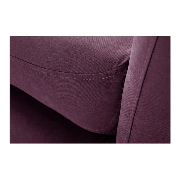 Fialová rohová trojmiestna pohovka Scandi by Stella Cadente Maison Come, pravý roh