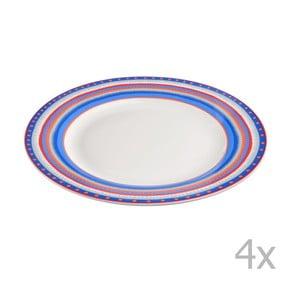 Sada 4 porcelánových tanierikov Oilily 22cm, modrá