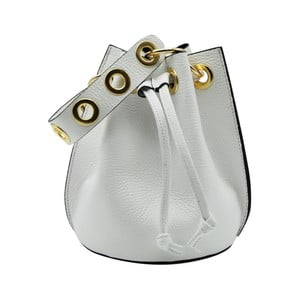 Biela kabelka z pravej kože Andrea Cardone Cantaloupe