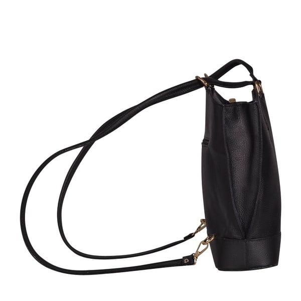 Kožená kabelka/batoh Jamie, čierna