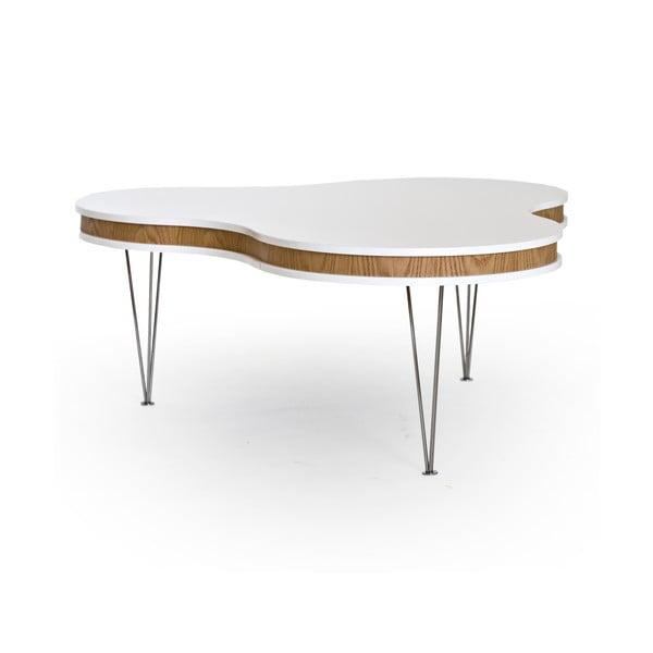 Bielo-hnedý konferenčný stolík RGE Hugo Clover