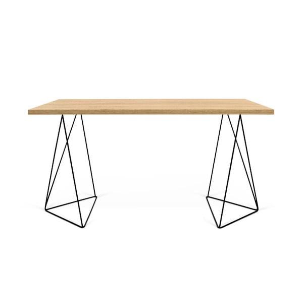 Pracovný stôl s čiernymi nohami TemaHome Flow