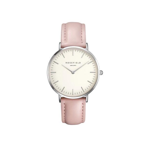 Strieborno-ružové dámske hodinky Rosefield The Bowery