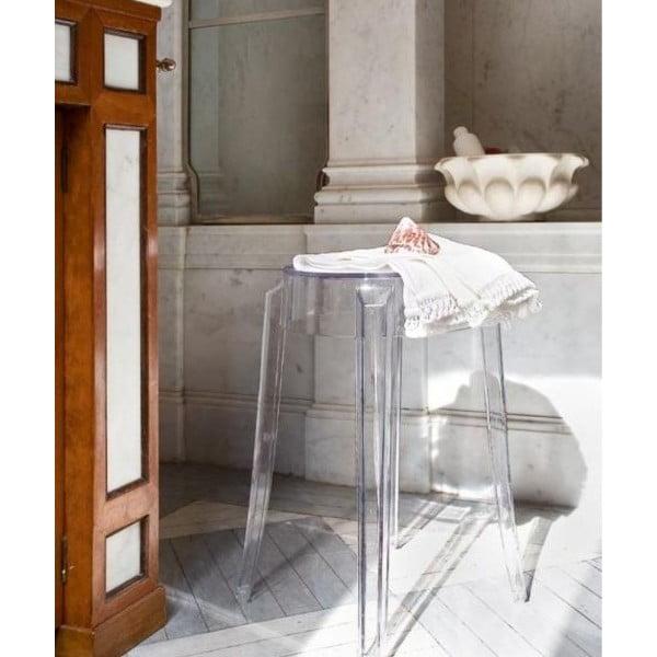 Stolička Kartell Charles Ghost, 65 cm