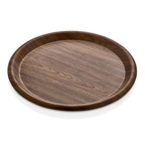 Hnedý tanier Evelin, ø 42 cm