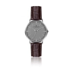 Pánske hodinky s hnedým remienkom z pravej kože Frederic Graff Silver Eiger Croco Brown Leather