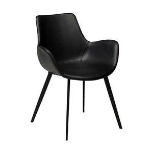 Čierne kreslo z eko kože DAN–FORM Denmark Hype